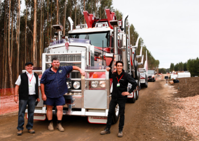 L to R: Lex McLean (Forest Centre), Mark Rodwell (Rodwell Logging), Rey Kell (Forest Centre)