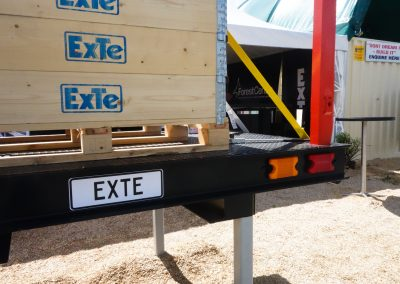 ExTe display stand with multiple flat deck truck possibilities on display