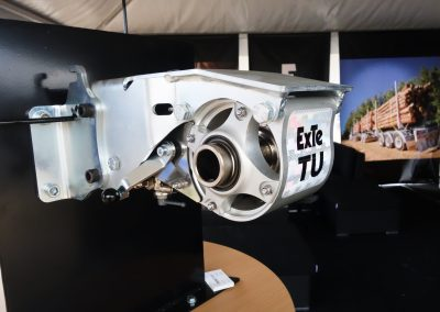 TU auto-tensioner with cutaway housing for visitors to see internals function