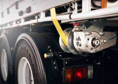 TU auto-tensioners on Laminex semi trailer