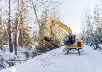 TMK400 tree shear 13T excavator